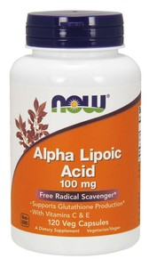 Alpha Lipoic Acid 100 мг (NOW) 120 вег капс