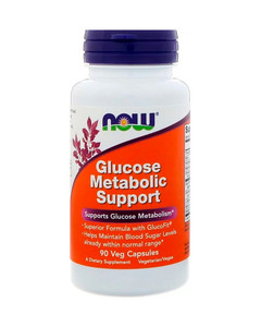 Комплекс при диабете NOW Glucose Metabolic Support (90 вег капсул)
